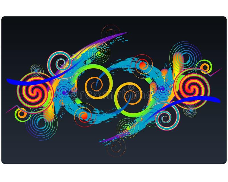 Ilustração colorida das espirais ilustração royalty free