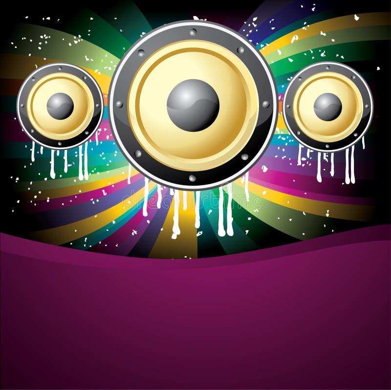 Download Ilustração Colorida Do Disco Da Música Ilustração do Vetor - Ilustração de forma, techno: 12809938