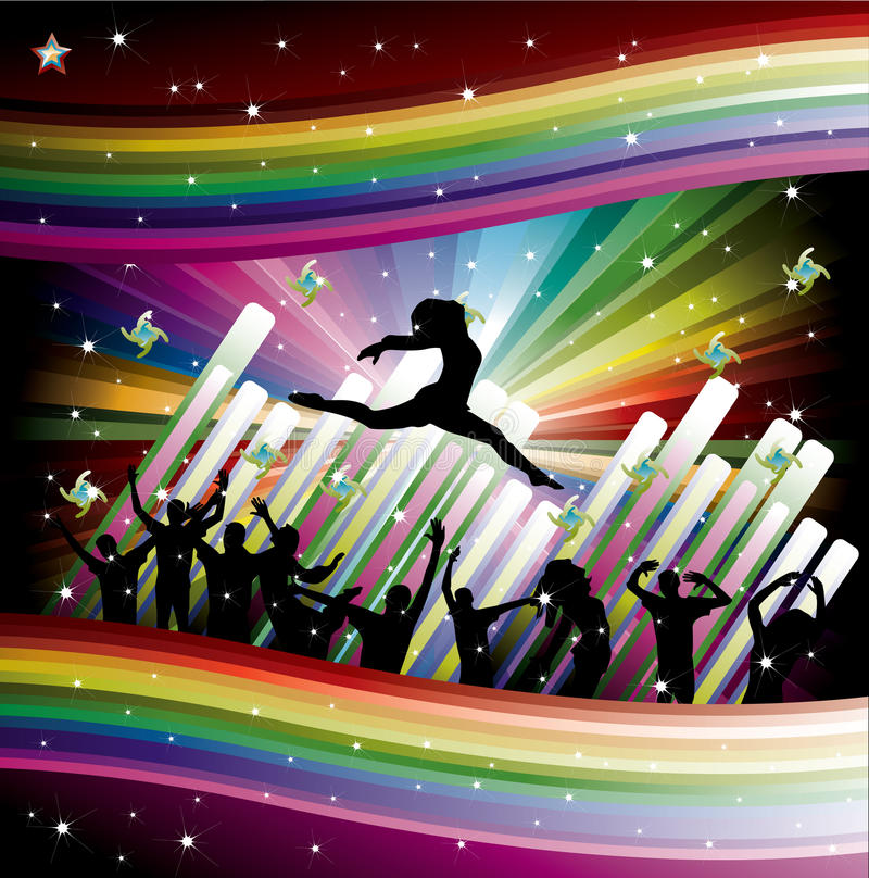 Download Ilustração Colorida Do Disco Da Música Ilustração do Vetor - Ilustração de elemento, silhueta: 12810075