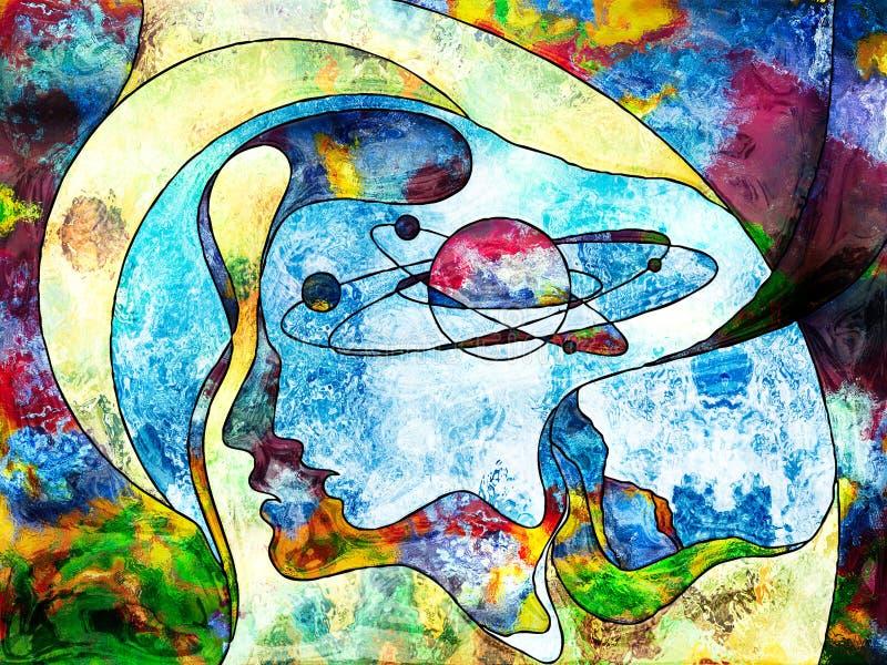 Ilustração colorida do fundo da física interna ilustração stock