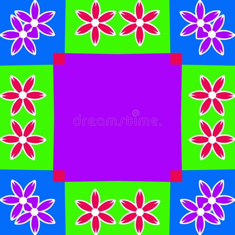 Ilustração colorida do fundo do frame da flor ilustração stock