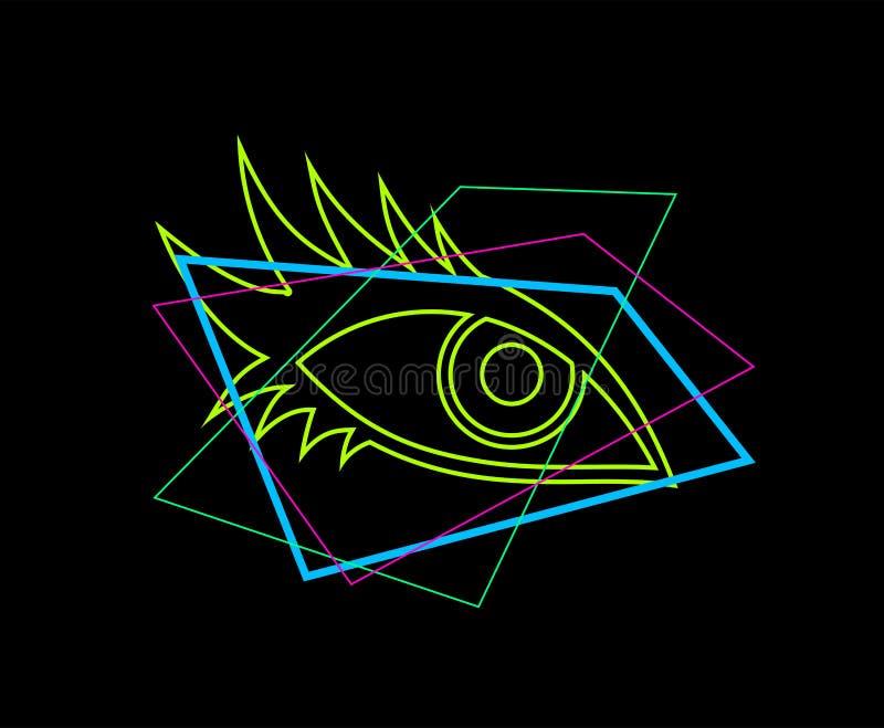 Ilustração colorida do olho ilustração royalty free