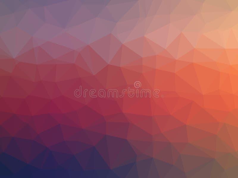 Ilustração colorida do polígono fotos de stock