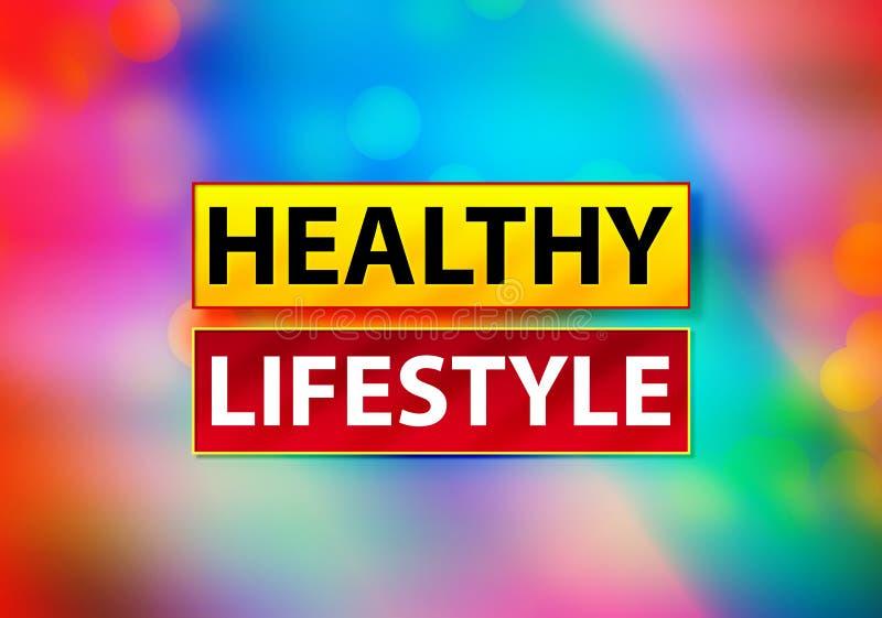Ilustração colorida do projeto de Bokeh do fundo do sumário saudável do estilo de vida ilustração stock