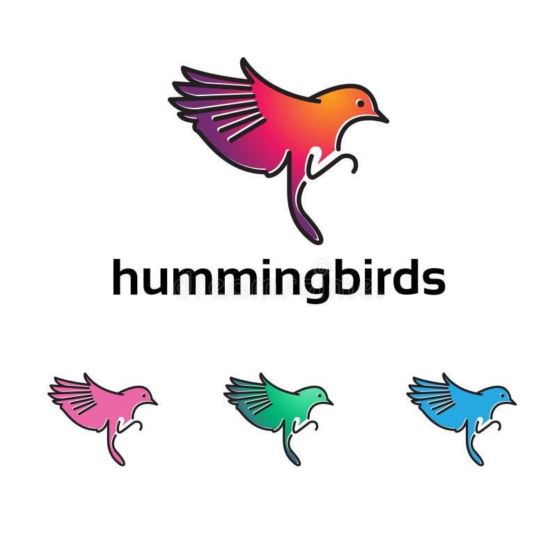 Ilustração colorida do símbolo do voo do colibri de Kolibri Colibri ilustração do vetor