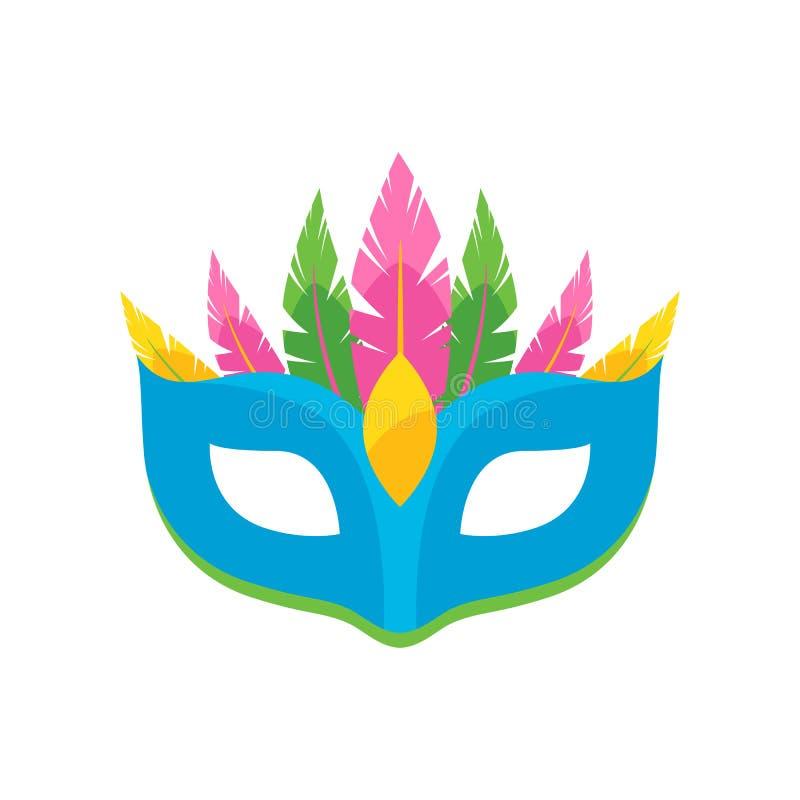 Ilustração colorida do vetor da máscara do carnaval ilustração royalty free