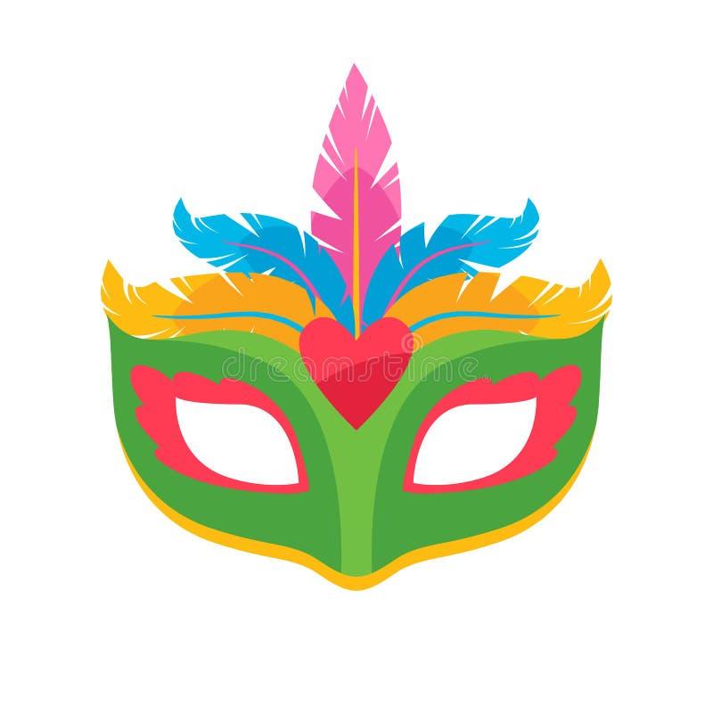 Ilustração colorida do vetor da máscara do carnaval ilustração stock