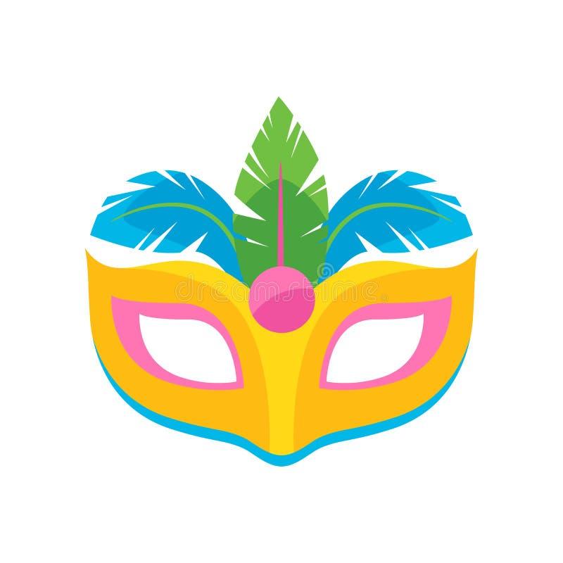 Ilustração colorida do vetor da máscara do carnaval ilustração do vetor