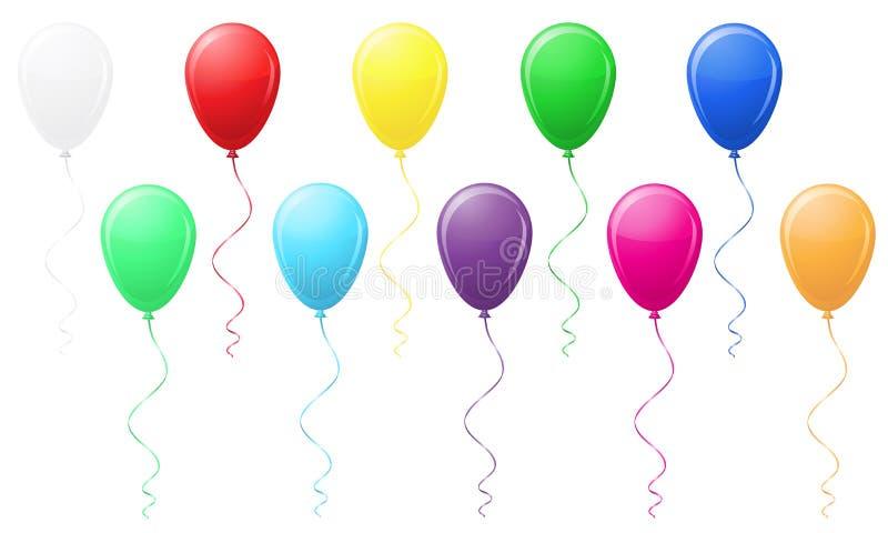 Ilustração colorida do vetor dos balões ilustração royalty free