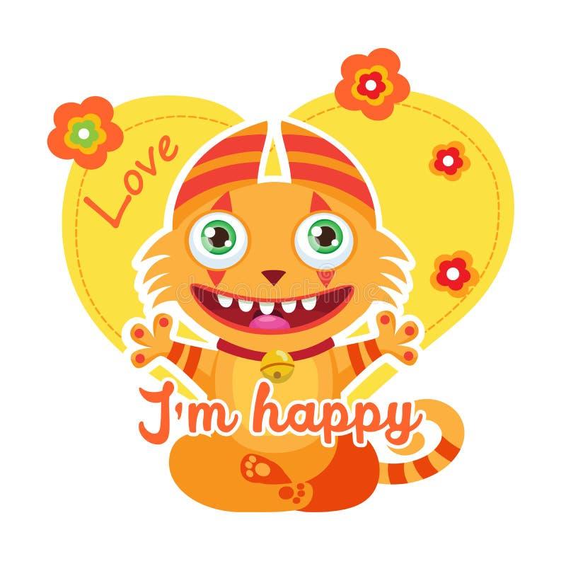 Ilustração colorida do vetor Lucky Cartoon Mascot Tema engraçado para o projeto do t-shirt das crianças ilustração stock