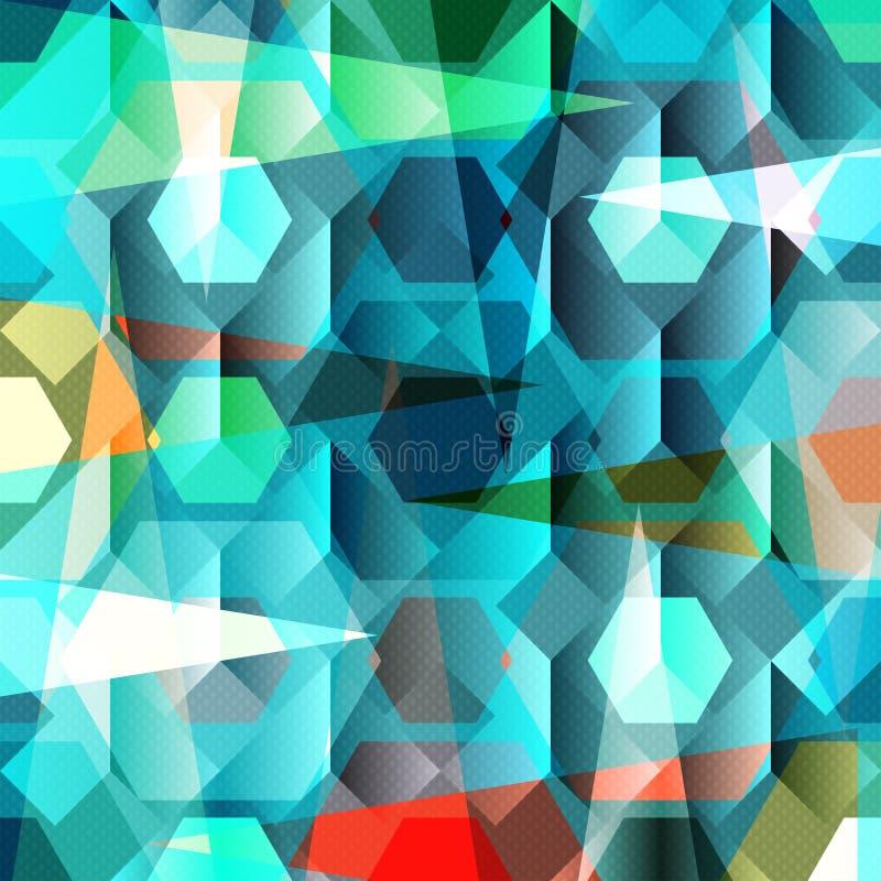 Ilustração colorida geométrica abstrata bonita do vetor do fundo ilustração royalty free