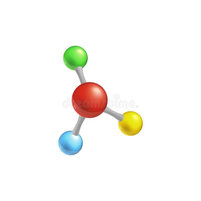 Ilustração colorida isolada modelo do vetor da molécula ilustração do vetor