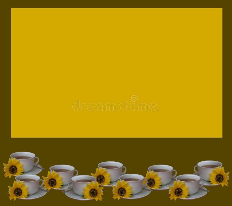 Ilustração com chá ilustração do vetor
