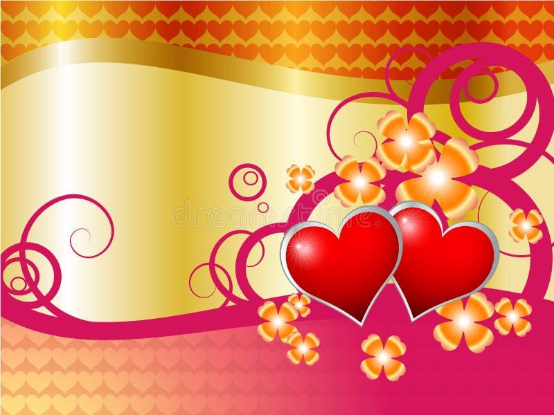 Ilustração com corações ilustração stock
