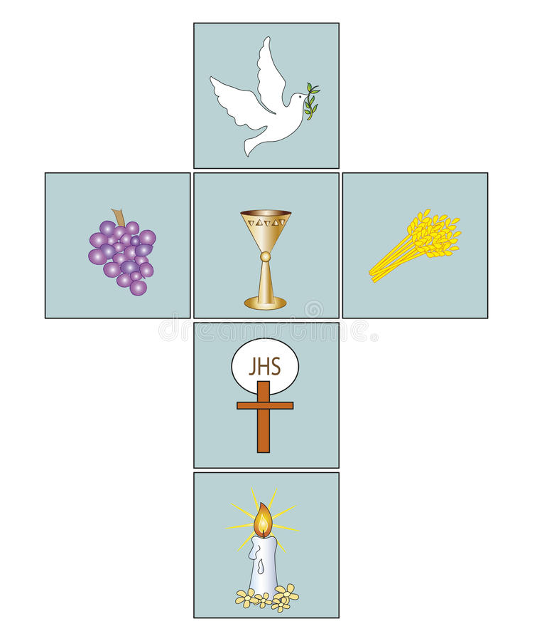 Cruz ilustração royalty free