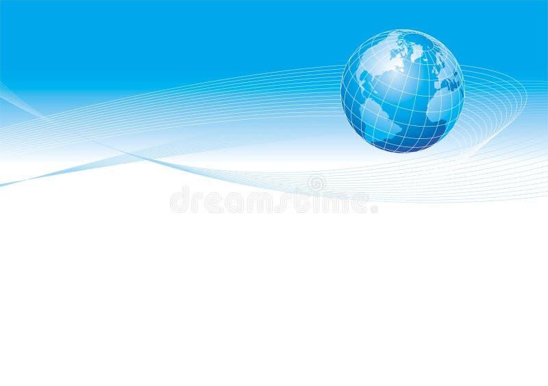 Ilustração com globo ilustração stock