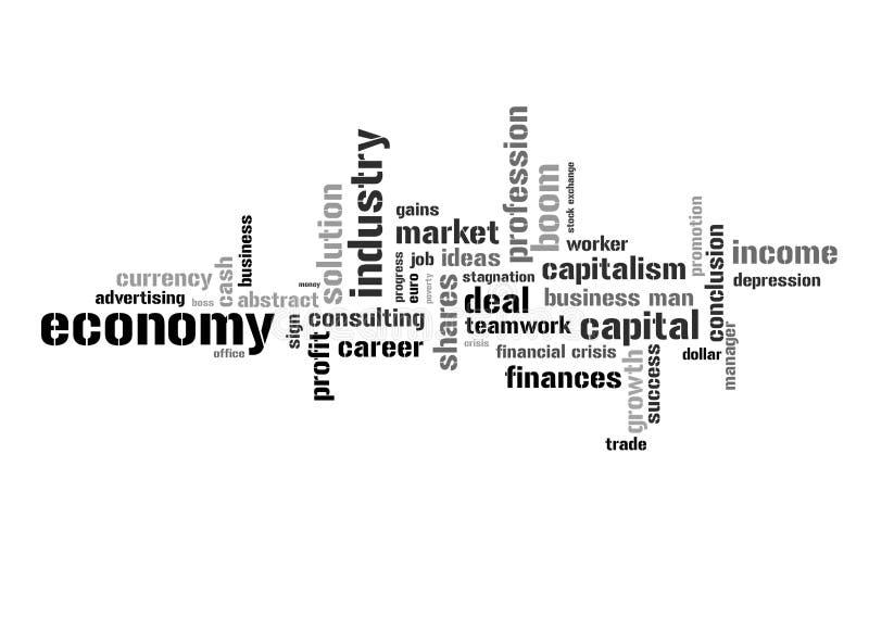 Ilustração com termos econômicos ilustração do vetor