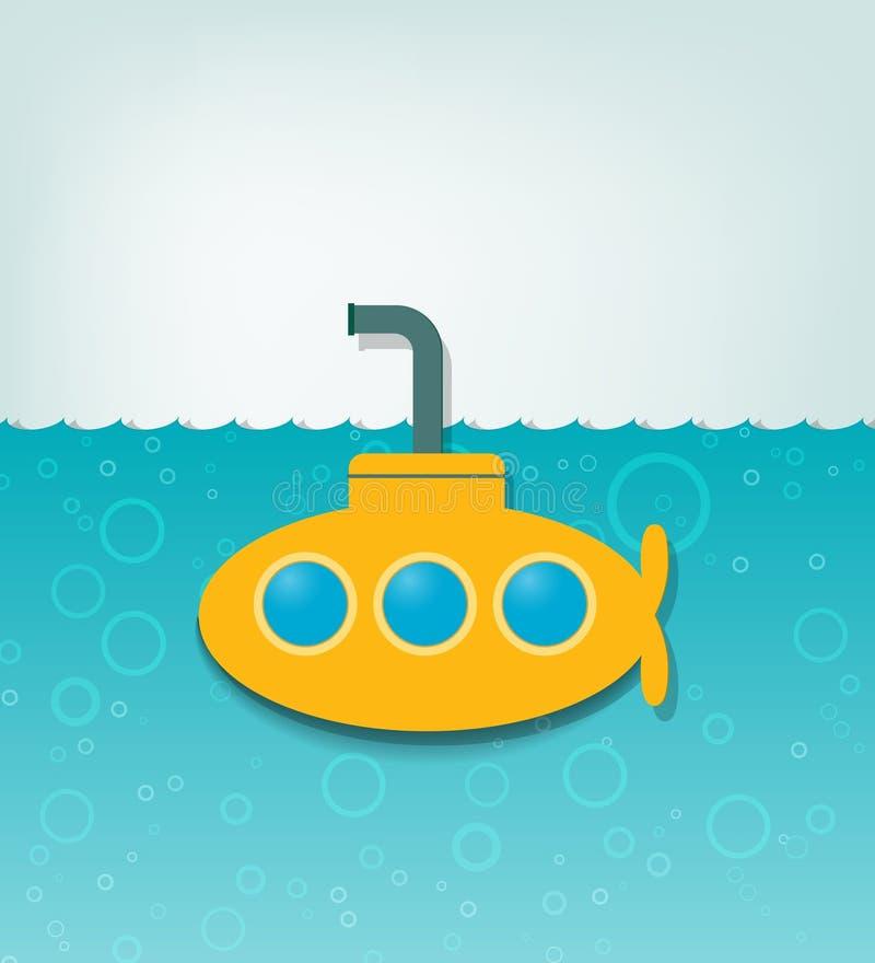 Download Ilustração Com Um Submarino Amarelo Ilustração do Vetor - Ilustração de pictogram, viagem: 26515283