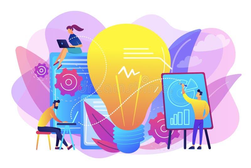 Ilustração competitiva do vetor do conceito da inteligência ilustração do vetor