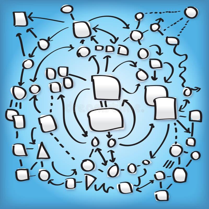 Ilustração complexa da rede ilustração royalty free