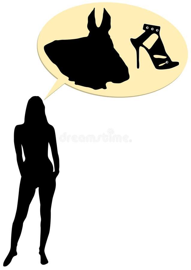 Ilustração conceptual da forma do negócio ilustração royalty free