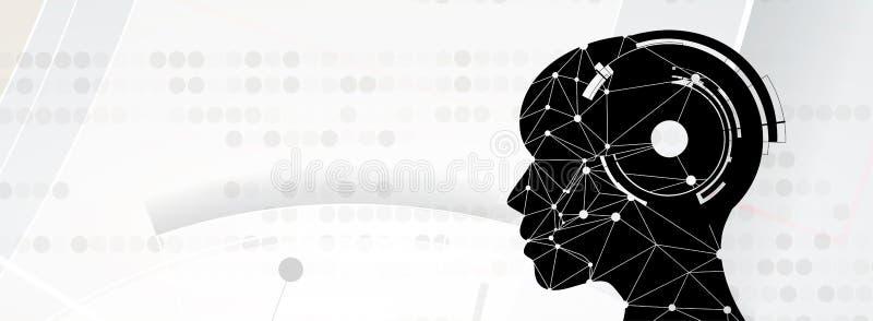 Ilustração conceptual da tecnologia da inteligência artificial