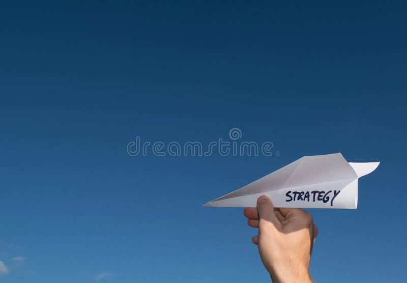 Ilustração conceptual de lançar uma estratégia nova imagens de stock royalty free
