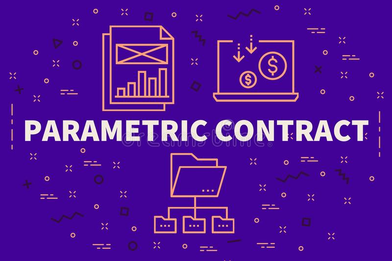 Ilustração conceptual do negócio com o contr paramétrico das palavras ilustração royalty free