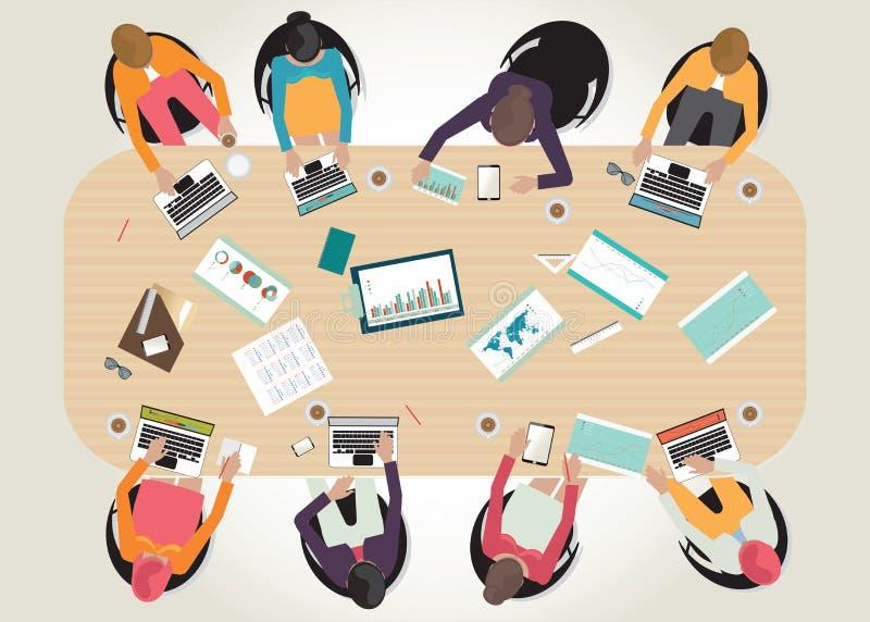 Ilustração conceptual do vetor da reunião de negócios ilustração do vetor