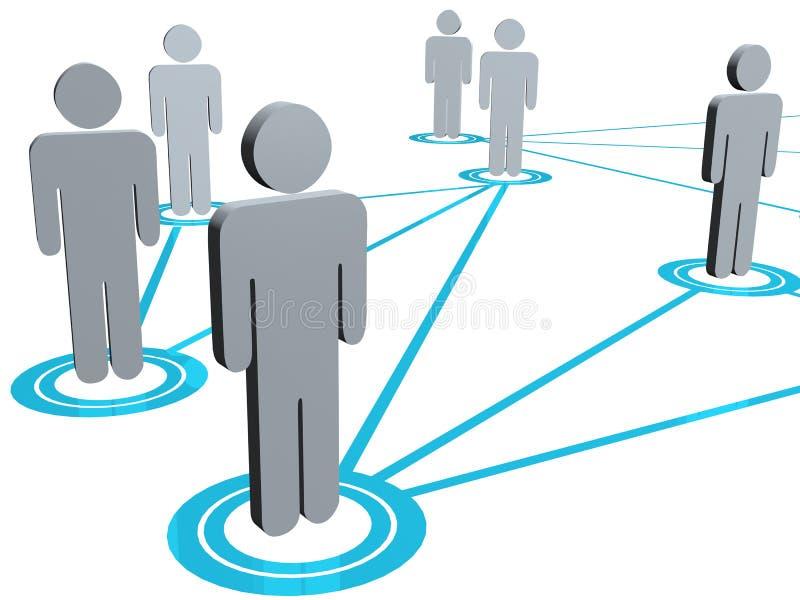 Ilustração conectada dos povos ilustração royalty free