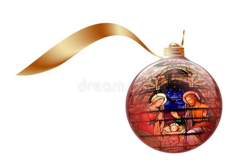 Ilustração conservada em estoque da foto do ornamento do Natal ilustração royalty free