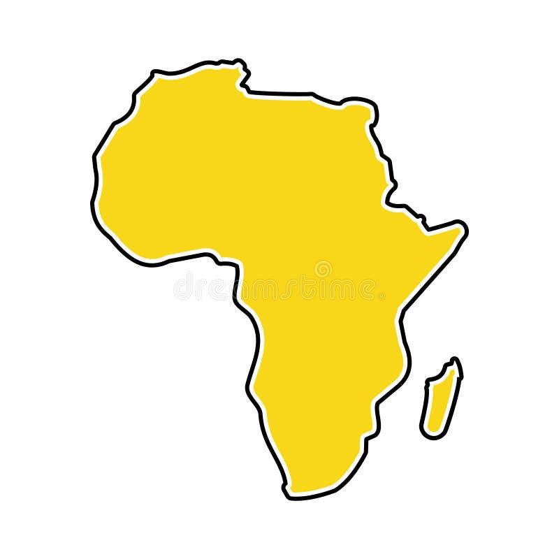 Ilustração conservada em estoque 4 do vetor do ícone do mapa de ÁFRICA do vetor ilustração do vetor