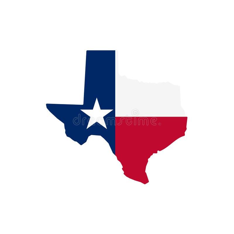 Ilustração conservada em estoque 1 do vetor do ícone do mapa de texas do vetor ilustração royalty free