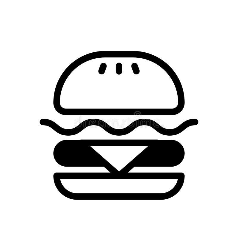 Ilustração contínua do Hamburger ilustração royalty free
