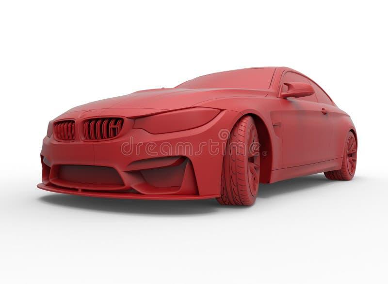 Ilustração convertível do carro de BMW ilustração do vetor