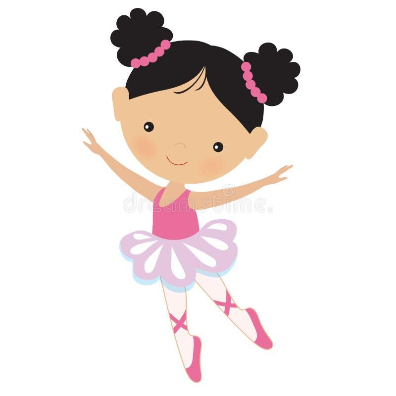 Ilustração cor-de-rosa bonito do vetor da bailarina ilustração stock