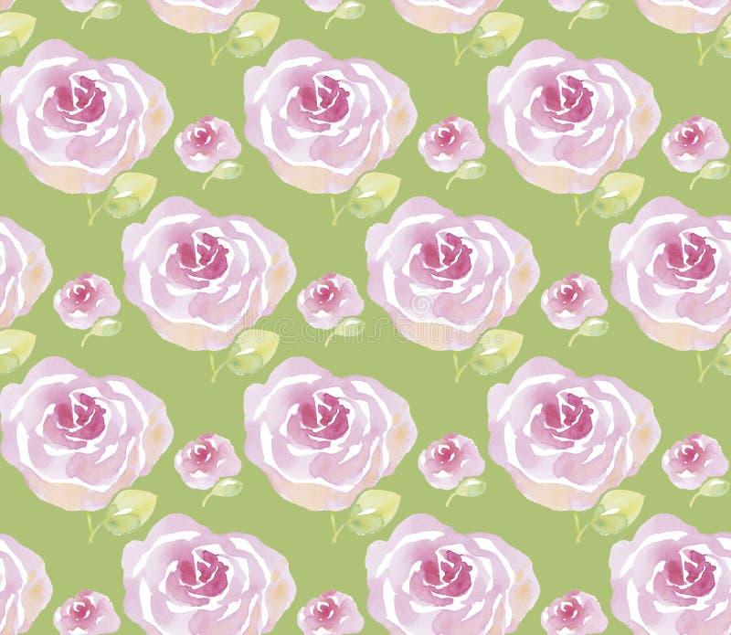 Ilustração cor-de-rosa das flores da aquarela ilustração royalty free