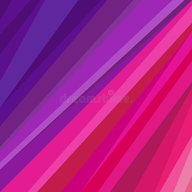 Ilustração cor-de-rosa e roxa da forma abstrata da cor de Valentim do dia ilustração stock