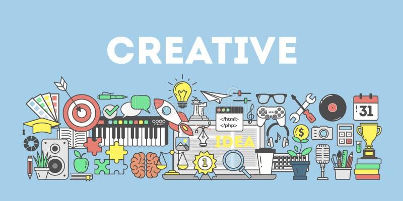 Ilustração criativa do conceito ilustração do vetor