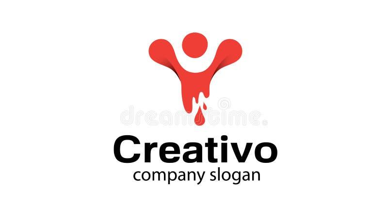 Ilustração criativa do projeto de Rocket Lamp Idea Light Logo ilustração royalty free