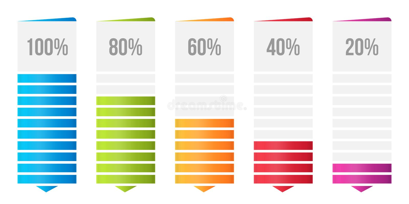 Ilustração criativa do vetor da carta de barra das colunas, infographic da tabela da comparação isolada no fundo transparente Art ilustração do vetor