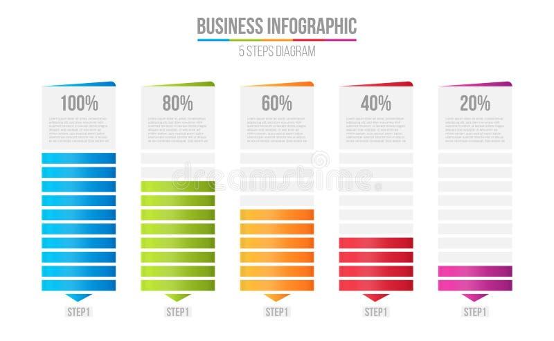 Ilustração criativa do vetor da carta de barra das colunas, infographic da tabela da comparação isolada no fundo transparente Art ilustração stock