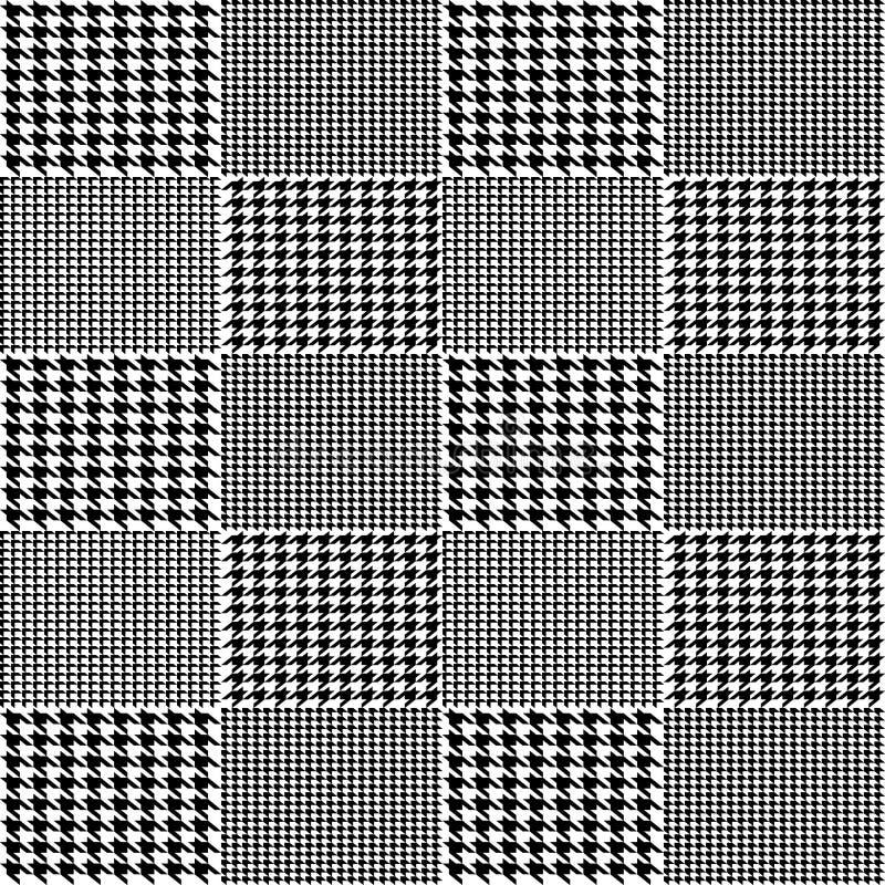 Ilustração criativa do vetor do fundo sem emenda do teste padrão do vetor do houndstooth da tela Projeto geométrico da arte do de ilustração do vetor