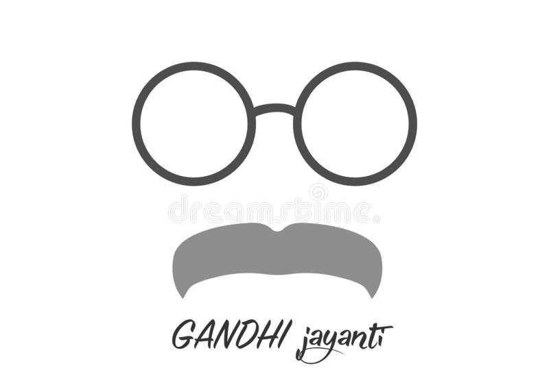 Ilustração criativa do vetor para o 2 de outubro Gandhi Jayanti com projeto agradável e bonito ilustração royalty free