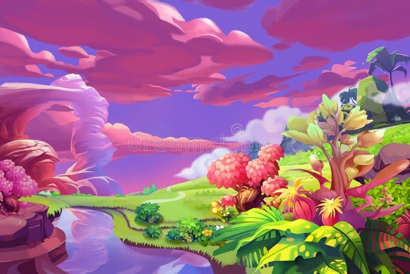 Ilustração criativa e arte inovativa: Versão silenciosa da obscuridade do monte ilustração royalty free