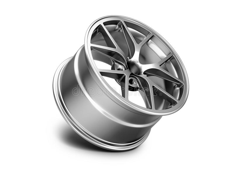 ilustração 3d da borda forjada do carro no fundo branco ilustração do vetor