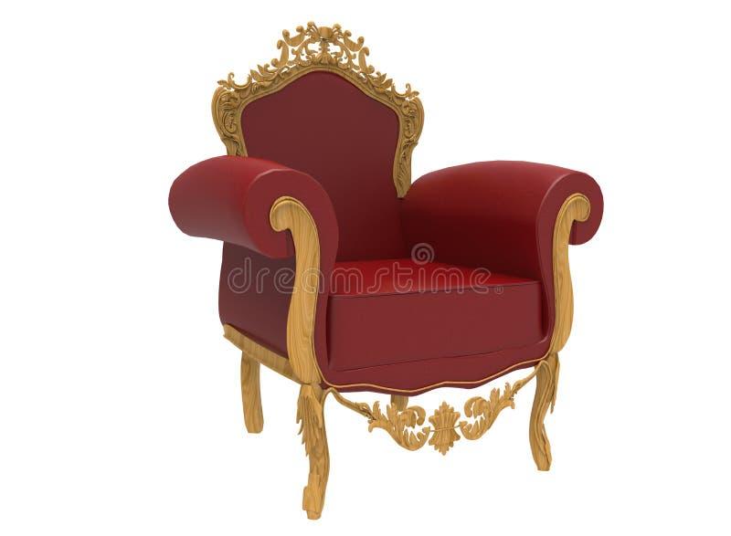 ilustração 3d da cadeira clássica luxuoso ilustração do vetor