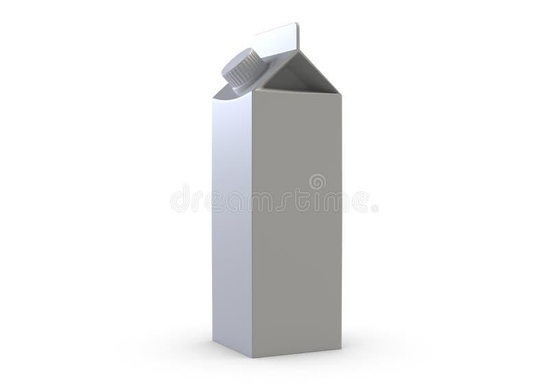 ilustração 3D da caixa do suco no fundo branco ilustração do vetor