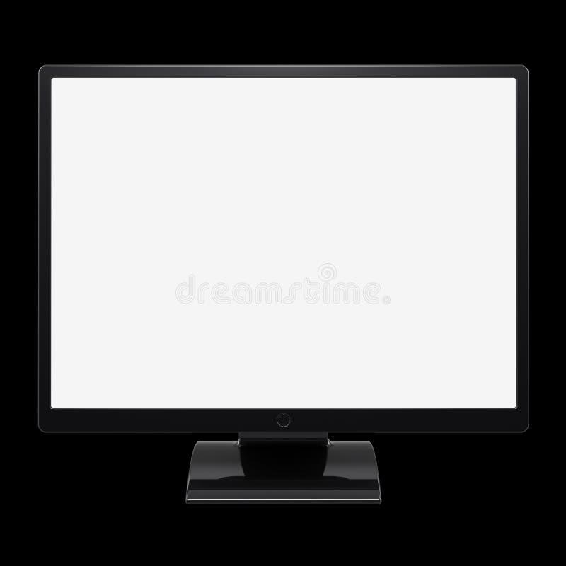 ilustração 3d da exposição vazia da tela da tevê do LCD do computador do monitor ilustração do vetor