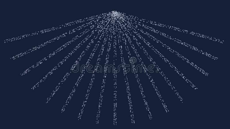 ilustração 3d da forma da partícula dentro de um estúdio ilustração do vetor